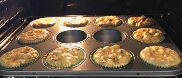 lumberjack cupcakes in oven