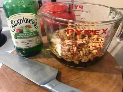 soaking dried fruit in Bundaberg apple cider